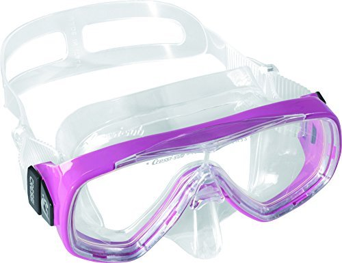 Cressi Junior Ondina Snorkeling Mask (Made in Italy), Clear/pink by Cressi by Cressi