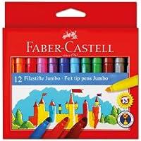 Faber-Castell 5062554312 Jumbo Keçeli Kalem, 12'Li, 12 Renk