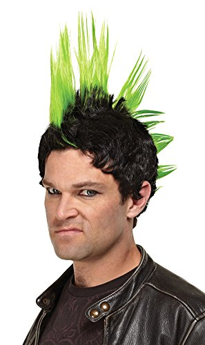 [Wig Green Punk Rocker Costume Accessory] (Punk Rocker Costume Accessories)