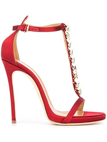 Dsquared2 Mujer W16C504001017 Rojo Satén Sandalias