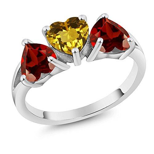 Heart Shape Garnet Ring - 2
