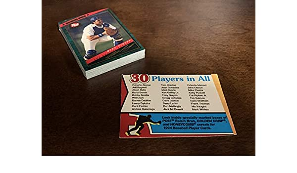 Amazoncom Complete Set Of 1994 Post Baseball Cards
