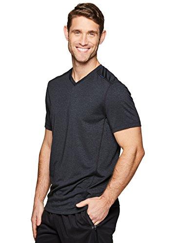 RBX Active Men's Performance Gym Workout V-Neck T-Shirt Black M ()