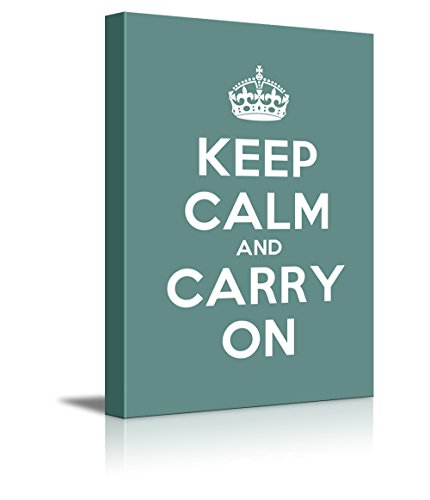 Keep Calm and Carry On Stretched Cyan
