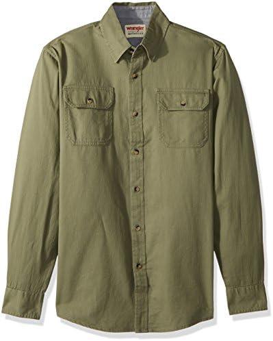 Wrangler Authentics Men's Long Sleeve Classic Woven Shirt