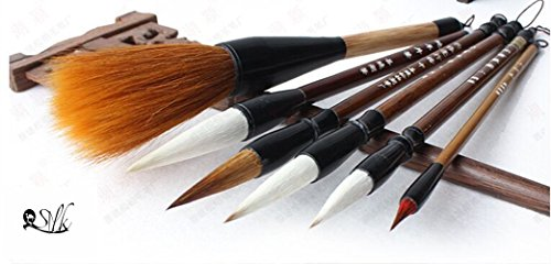 2500-Silk-Art-China-Hu-Writing-Brush-Chinese-Calligraphy-Kanji-Japanese-Sumi-Drawing-Brushes-6-pieceset-weasel-hair-1pcs-wool-hair-1-pcsweasel70wool30-L-M-S-SS-4pcsMBT6