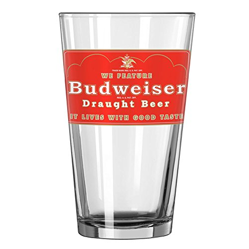 Budweiser Draft Beer - Budweiser Draught Beer Pint Glass