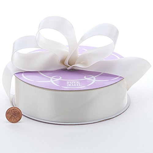 White Double Face Satin Ribbon, 1-1/2