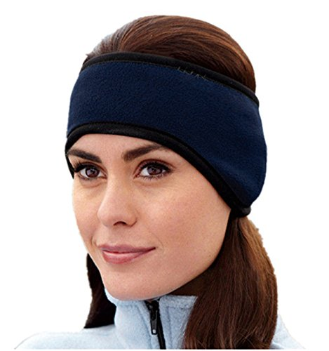 Sportswear Metal (BYEEE Unisex Sportswear / Ear Warmers Headband / Ear Muffs for Men & Women - Stay Warm & Cozy with our Thermal Polar Fleece & Performance Stretch. Perfect for Sports-Daily Wear (Free Size, Navy))