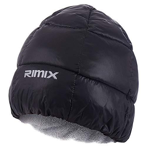 (RIMIX Outdoor Waterproof Windproof Thermal Fleece Down Cap Hat,Men Women Cycling Ski Hiking Thickness Hats,Winter Camping Sleep)