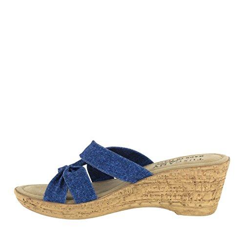 Easy Street de la mujer lauria sandalias de cuña Jeans