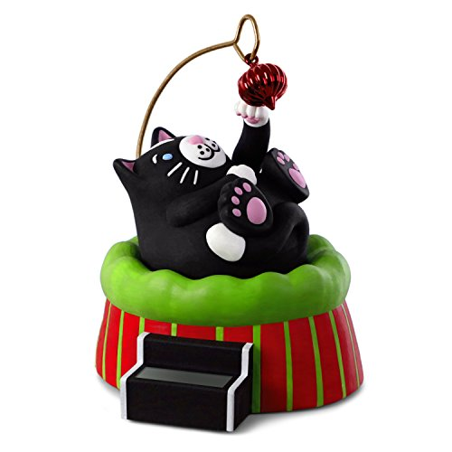 Hallmark Keepsake Christmas Ornament 2018 Year Dated Cat with Solar Motion by Hallmark Keepsake