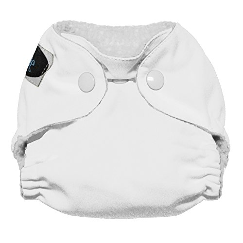 Imagine Baby Products Newborn Stay Dry All-In-One Snap Cloth Diaper, Snow