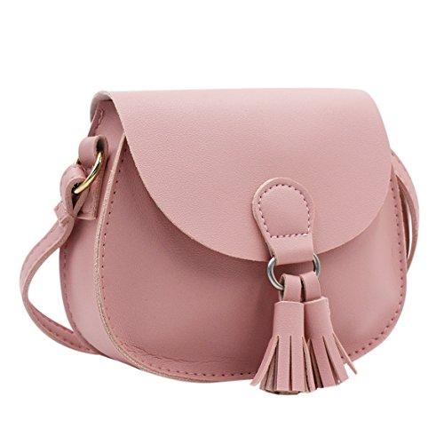 Women & Girls Saddle Bag Crossbody Purse Shoulder Bag with Tassel