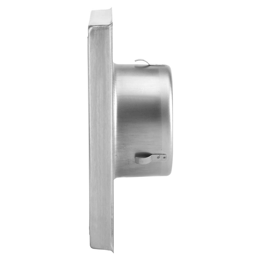 Cafopgrill Rejilla de Ventilaci/ón de Pared de Acero Inoxidable Cuadrada para Extractor de Secadora Extractor de Ventilador de Salida de Plata