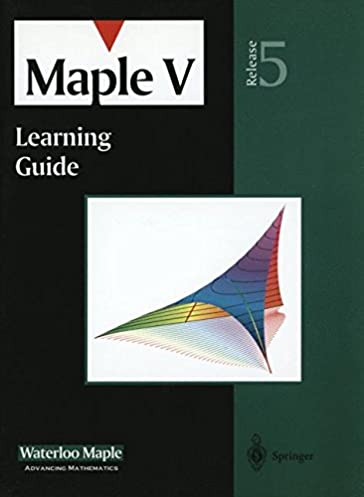 buy maple v learning guide book online at low prices in india rh amazon in Maple Software S Maple Systems Software