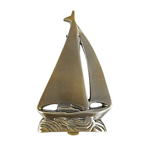 Brass Sailboat (Solid Brass Sailboat Door Knocker Nautical by Moby Dick)