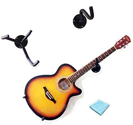 Ángulo guitarra pared percha con gamuza de limpieza: Amazon.es ...