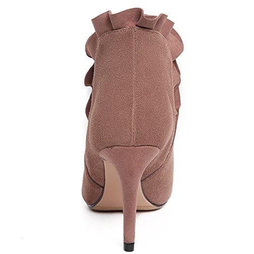 Tacco A Spillo Stiletto Donna Elegante In Pelle Scamosciata A Punta Nove Eleganti In Pelle Scamosciata Rosa