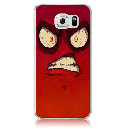 Xtra-Funky Serie Samsung Galaxy S6 de dibujos animados loco ojos saltones cubierta de la caja de plástico duro - Ojos en Amarillo Enojado