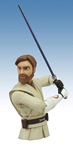 (Diamond Select Toys Star Wars The Clone Wars Obi-Wan Vinyl Bust Bank)
