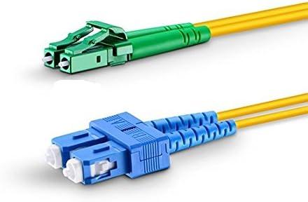 Length Options 0.5M-200M Fiber Optic Cable LC//APC to SC Singlemode Duplex OS2 9//125mm Fiber Optic Patch Cord 36m