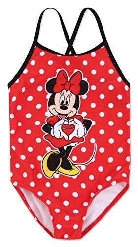 (Girls Minnie Mouse One Piece Swimsuit 6X )