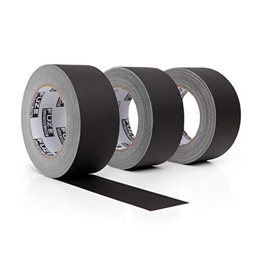 Juego de 3 cintas negras para anteojos, 30 yardas y 2 pulgadas de ancho, 3 rollos de recambios. Multipack impermeable Gaffer...