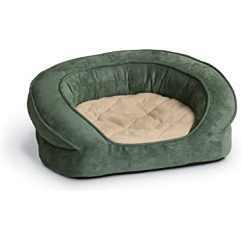 K&H Manufacturing Deluxe Ortho Bolster Sleeper Large Green Paw 40-Inch