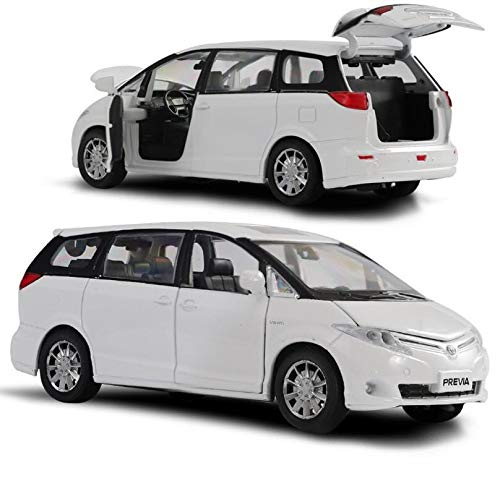 (Greensun High Simulation Toyota Previa Model 1:32 Alloy Pull Back car Toy,diecast Metal Model Vehicle,)