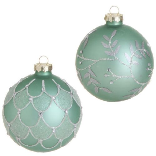 below is a great selection of mint green christmas ornaments - Green Christmas Decorations