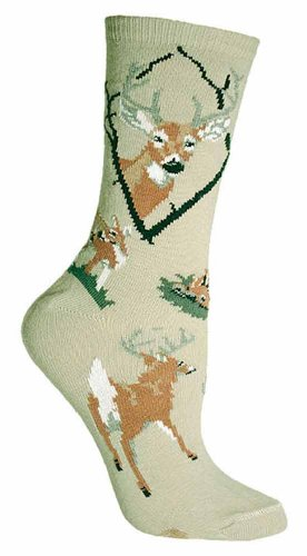 Wheel House Designs Women's Deer Socks made in Vermont