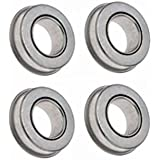Set of 4 Flanged Ball Bearings with 20mm ID x 35mm OD x 11mm Thick