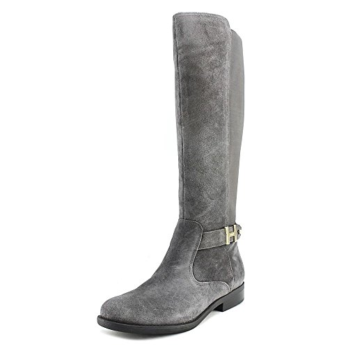 Tommy Suprem Boot multi Hilfiger suede Women's Grey Riding xwqxzZf1
