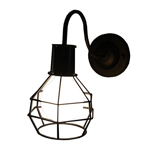 Diseño Pa Lámpara Jaula Retro De Pequeña Rojo TOPkiXuZ