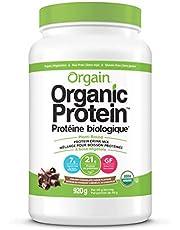 Orgain Organic Plant Based Canadian Protein Powder, Creamy Chocolate Fudge - Vegan, Lactose Free, Gluten Free, Dairy Free, No Sugar Added, Soy Free, Kosher, Non-GMO, 920g