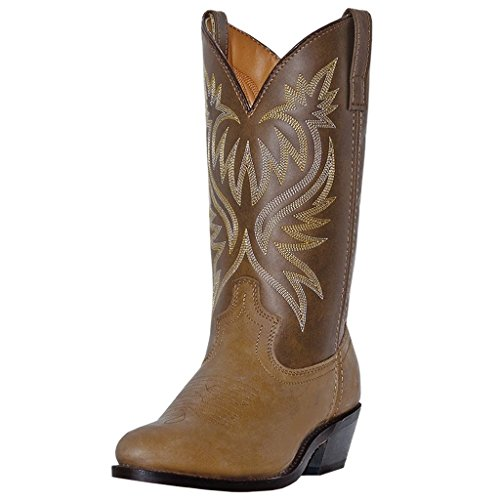 Laredo Men's Basic Cowboy Boot Tan Distressed 14 D(M) US - Basic Western Boot