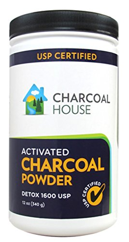 DETOX 1600 USP - Super Fine Coconut Activated Charcoal Powder - 12 oz by Charcoal House (Image #2)