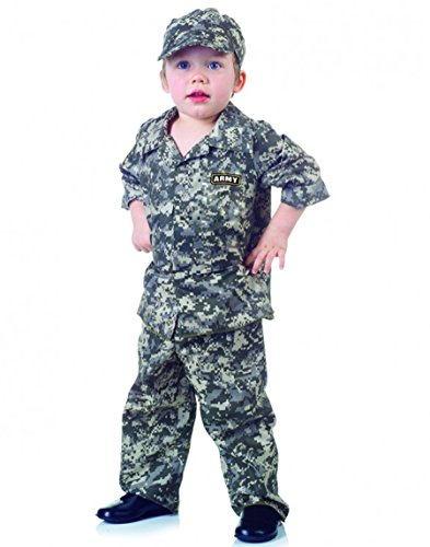 Toddler Camo Army Costumes (Underwraps Army Uniform Toddler Costume, Camo)