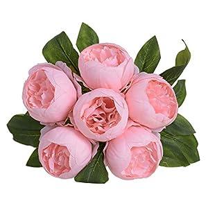 AGUIguo Simulation Bouquet Peony Flower Artificial Holding Flowers Home Decor Flower Wedding Party Bouquet 117