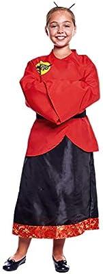 Disfraz China Dragón Niña (3-4 años) (+ Tallas) Carnaval Mundo ...