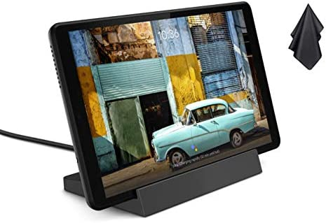 2021 Newest Lenovo Smart Tab M8 with Google Assistant, 8 inch 1280x800 IPS Touchscreen Android Tablet, Quad-Core Processor, 2GHz RAM, 32GB Storage, Long Battery Life, Android 9 Pie + Oydisen Cloth