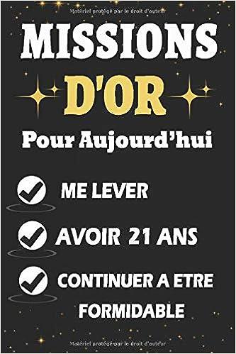 missions D'OR Pour Aujourd'hui 21 Ans: Carde Notes, Papier