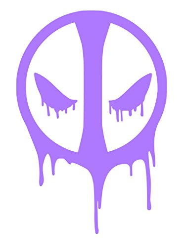 Deadpool Logo Sticker Decal (5''x4'', Purple)