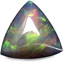 1.51 Ct. Natural Trillion Cabochon Multi Color Black Opal Ethiopia Loose Gemstone