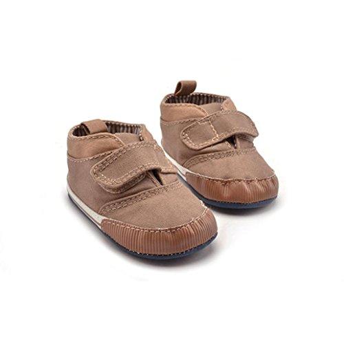 Ouneed® Krabbelschuhe , Baby Segeltuch Schuh Turnschuh rutschfeste weiche alleinige Kleinkind Schuhe Khaki