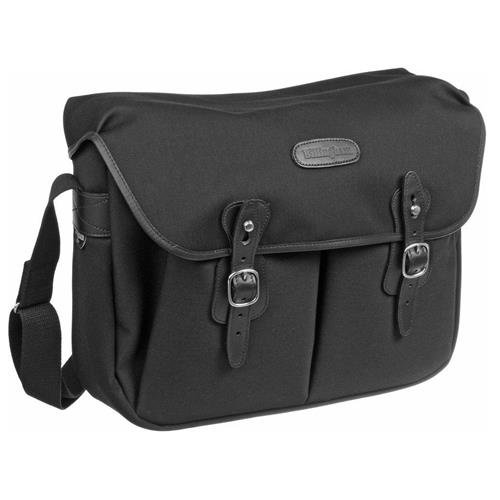 - Billingham Hadley Shoulder Bag Large (Black with Black Leather Trim)