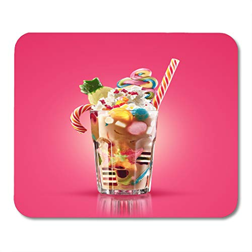 (Nakamela Mouse Pads Colourful Festive Cocktail with Sweets Candy Jelly Colorful Array of Different Childs and Treats in Cacao Mouse mats 9.5