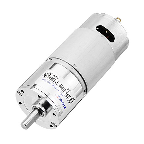 Hitommy Zhengke ZGB37RH 12V 200rpm Gear Motor Reduction Motor DC Motor by Hitommy