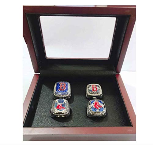 - Nine Culture Red Sox 4 Years World Series Baseball Championship Rings Super Bowl Collectible Gift Fashion Set 2004 2007 2013 2018(Size 8-13) with High-end Wooden Box (11)